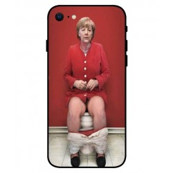 Durable Angela Merkel On The Toilet Cover For iPhone SE 2020