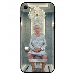 Durable Queen Elizabeth On The Toilet Cover For iPhone SE 2020