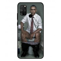 Obama På Toilettet Cover Til Huawei Honor 9A