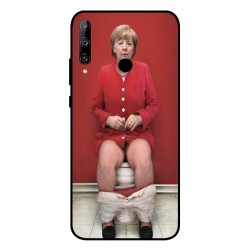 Durable Angela Merkel On The Toilet Cover For Huawei Honor 9C