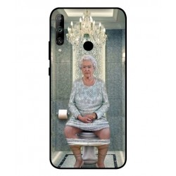 Durable Queen Elizabeth On The Toilet Cover For Huawei Honor 9C