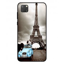 Durable Paris Eiffel Tower Cover For Huawei Honor 9S