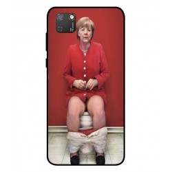 Durable Angela Merkel On The Toilet Cover For Huawei Honor 9S