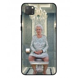 Durable Queen Elizabeth On The Toilet Cover For Huawei Honor 9S