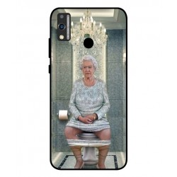 Durable Queen Elizabeth On The Toilet Cover For Huawei Honor 9X Lite