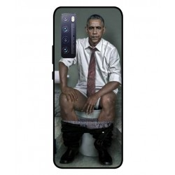 Durable Obama On The Toilet Cover For Huawei Nova 7 5G