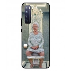 Durable Queen Elizabeth On The Toilet Cover For Huawei Nova 7 5G
