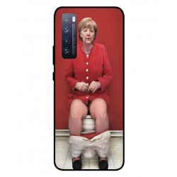 Durable Angela Merkel On The Toilet Cover For Huawei Nova 7 Pro 5G