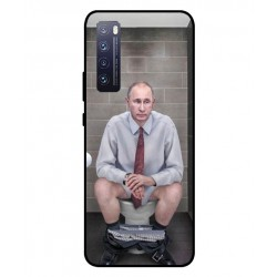 Durable Vladimir Putin On The Toilet Cover For Huawei Nova 7 Pro 5G