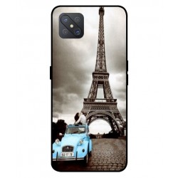 Durable Paris Eiffel Tower Cover For Oppo A92s