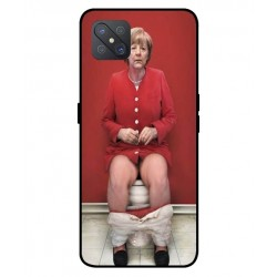 Durable Angela Merkel On The Toilet Cover For Oppo A92s