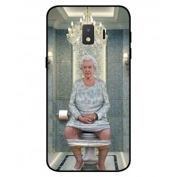 Durable Queen Elizabeth On The Toilet Cover For Samsung Galaxy J2 Core 2020