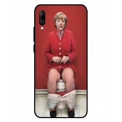Durable Angela Merkel On The Toilet Cover For Wiko View 3 Lite