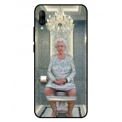 Durable Queen Elizabeth On The Toilet Cover For Wiko View 3 Lite