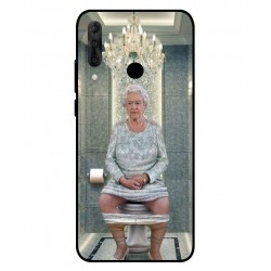 Durable Queen Elizabeth On The Toilet Cover For Wiko View 3 Pro