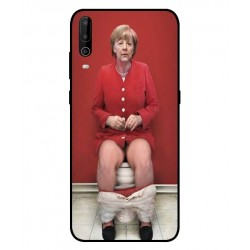 Durable Angela Merkel On The Toilet Cover For Wiko View 4 Lite