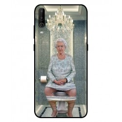 Durable Queen Elizabeth On The Toilet Cover For Wiko View 4 Lite