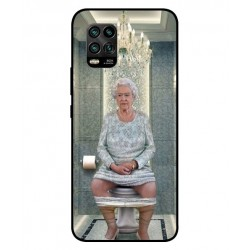 Durable Queen Elizabeth On The Toilet Cover For Xiaomi Mi 10 Youth 5G