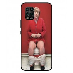 Durable Angela Merkel On The Toilet Cover For Xiaomi Mi 10 Youth 5G