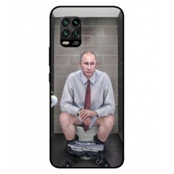 Durable Vladimir Putin On The Toilet Cover For Xiaomi Mi 10 Youth 5G