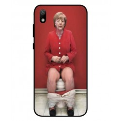 Durable Angela Merkel On The Toilet Cover For Huawei Y5 2019