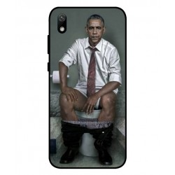 Durable Obama On The Toilet Cover For Huawei Y5 2019