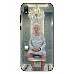 Durable Queen Elizabeth On The Toilet Cover For Huawei Y5 2019