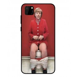 Durable Angela Merkel On The Toilet Cover For Huawei Y5p