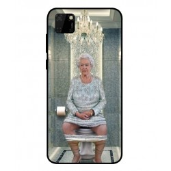 Durable Queen Elizabeth On The Toilet Cover For Huawei Y5p