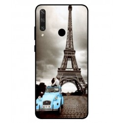 Durable Paris Eiffel Tower Cover For Huawei Y6p