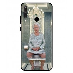 Durable Queen Elizabeth On The Toilet Cover For Huawei Y6p