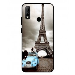 Durable Paris Eiffel Tower Cover For Huawei Y8s