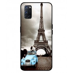 Durable Paris Eiffel Tower Cover For Oppo A52