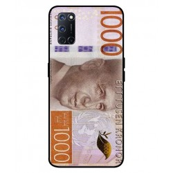 Durable 1000Kr Sweden Note Cover For Oppo A52