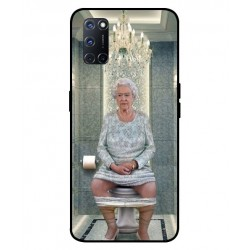 Durable Queen Elizabeth On The Toilet Cover For Oppo A52