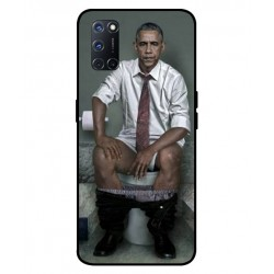 Durable Obama On The Toilet Cover For Oppo A72