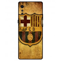 Durable FC Barcelona Cover For LG Velvet