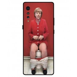 Durable Angela Merkel On The Toilet Cover For LG Velvet
