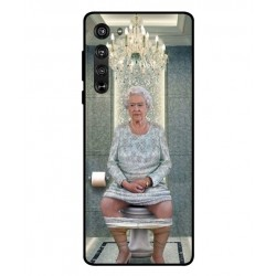 Durable Queen Elizabeth On The Toilet Cover For Motorola Edge
