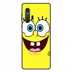 Durable SpongeBob Cover For Motorola Edge Plus