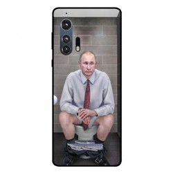 Durable Vladimir Putin On The Toilet Cover For Motorola Edge Plus
