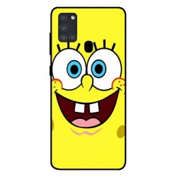 Durable SpongeBob Cover For Samsung Galaxy A21s