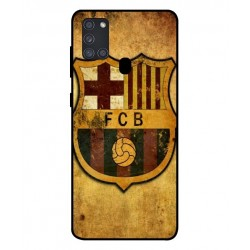 Durable FC Barcelona Cover For Samsung Galaxy A21s