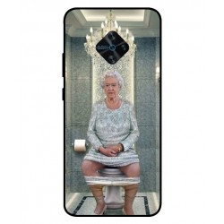 Durable Queen Elizabeth On The Toilet Cover For Vivo X50 Lite