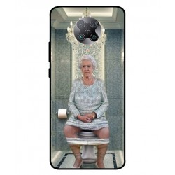 Durable Queen Elizabeth On The Toilet Cover For Xiaomi Poco F2 Pro