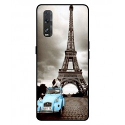 Durable Paris Eiffel Tower Cover For Oppo Find X2