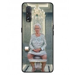 Durable Queen Elizabeth On The Toilet Cover For Oppo Find X2