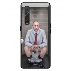 Durable Vladimir Putin On The Toilet Cover For Oppo Find X2 Pro