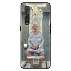 Durable Queen Elizabeth On The Toilet Cover For Oppo Find X2 Pro
