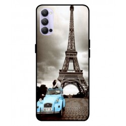 Durable Paris Eiffel Tower Cover For Oppo Reno 4 5G